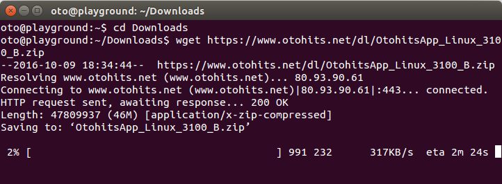 Otohits net - Installing the application on linux (Ubuntu